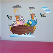 Imagicom - Wall Deco Noah's Ark Sticker Sheets 4pce