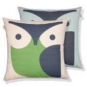 Orla Kiely - Owl Grass Green Cushion