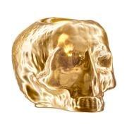 Kosta Boda - Still Life Skull Votive Candle Holder Gold