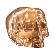 Kosta Boda - Still Life Skull Votive Candle Holder Copper