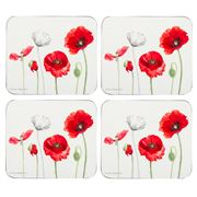 Ashdene - Poppies Coaster Set 4pce