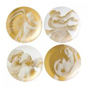 Wedgwood - Gilded Muse Plate Set 17cm/4pce