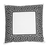 Hampton Collection - Maze Black Cushion
