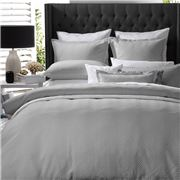 Private Collection - Metro Quilt Cover Set Silver Queen 3pce