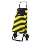 Rolser - Mountain Marina Black & Lime Shopping Trolley