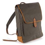 Sejr Copenhagen - Gorm Green & Cognac Canvas Backpack