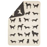 David Fussenegger - Bow Wow Off White Pet Blanket