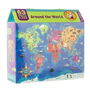 Mudpuppy - Around The World Puzzle 63pce