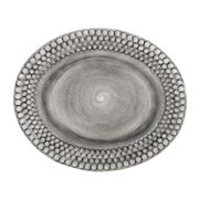 Mateus - Bubbles Grey Oval Platter 35cm
