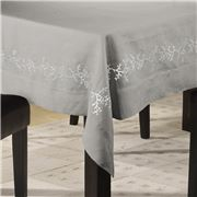 Serenk - Coral Light Grey & Ecru Tablecloth 160x350cm