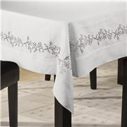 Serenk - Coral Tablecloth White & Grey 155x250cm