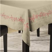Serenk - Coral Tablecloth Natural & Orange 155x250cm