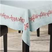 Serenk - Coral Tablecloth Blue & Red 155x250cm