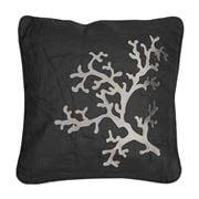 Serenk - Coral  Cushion Natural & Black