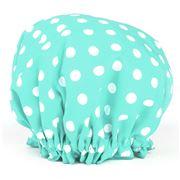 A.T. - Aqua Polka Dot Shower Cap