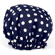 A.T. - Navy Blue Polka Dot Shower Cap