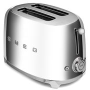 Smeg - 50's Retro Two-Slice Toaster TSF01 Chrome