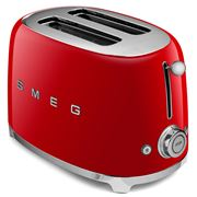 Smeg - 50's Retro Two-Slice Toaster TSF01 Red