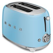 Smeg - 50s Retro Style Pastel Blue Two-Slice Toaster