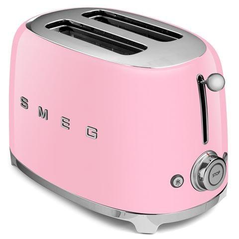 Smeg 50 S Retro Two Slice Toaster Tsf01 Pastel Pink