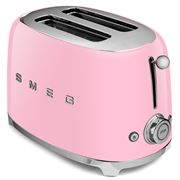 Smeg - 50's Retro Two-Slice Toaster TSF01 Pastel Pink