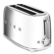 Smeg - 50's Retro Four-Slice Toaster TSF02 Chrome