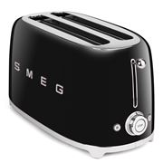 Smeg - 50s Retro Style Black Four-Slice Toaster