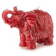 Mario Luca Giusti - Elephant Medium Ceramic-Look Candle Red