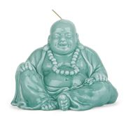 Mario Luca Giusti - Ceramic-Look Turquoise Buddha Candle