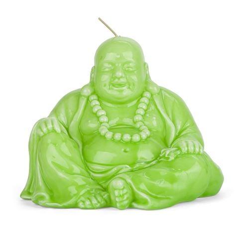 Mario Luca Giusti Ceramic Look Little Green Buddha