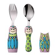 Eat4Fun - Fairy Princess Kids' Cutlery Set w/ Cutlery Holder