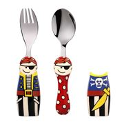 Eat4Fun - Pirate Kids' Cutlery Set with Cutlery Holders