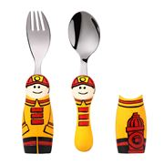 Eat4Fun - Fireman Kids' Cutlery Set with Cutlery Holders