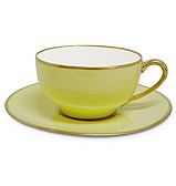 Limoges - Legle Pastel Yellow Teacup & Saucer