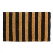 Doormat Designs - Black Stripe Doormat