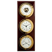 Barigo - Walnut & Brass Wall-Mounted Weather Station