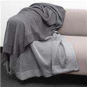 Bemboka - Pure Soft Cotton Throw Reversible Rib Charc/Grey