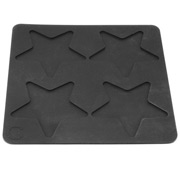 Curtis Stone - Wafer Baker Star Silicone Mat