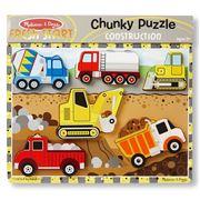 Melissa & Doug - Construction Chunky Puzzle 6pce