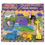Melissa & Doug - Safari Animals Chunky Puzzle 8pce