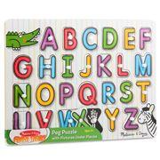 Melissa & Doug - See Inside Alphabet Peg Puzzle 26pce