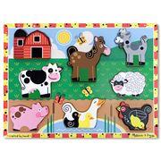 Melissa & Doug - Chunky Farmyard Animals Puzzle 8pce