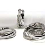 L'objet - Napkin Ring Crystal Links Set 4pce