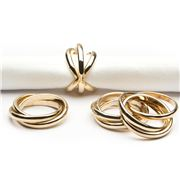 L'objet - Linked Rings Napkin Ring Gold Set 4pce