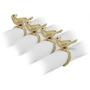 L'objet - Bird Gold Napkin Rings Gold 4pce