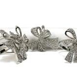 L'objet - Bows Crystal Napkin Ring Set 4pce