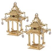 L'objet - Pagoda Golden Napkin Jewels Set 2pce