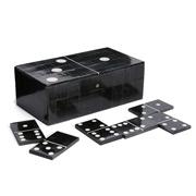 CC Interiors - Wooden Domino Set with Domino Storage Box