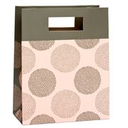 Vandoros - Chrysanthemum Pink and Latte Small Gift Bag