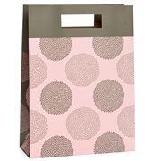 Vandoros - Chrysanthemum Pink and Latte Medium Gift Bag